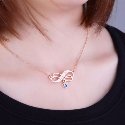 Personalized Infinity Love Necklace