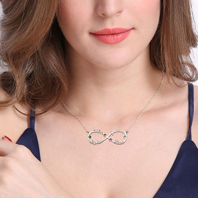 4-Name Infinity Necklace