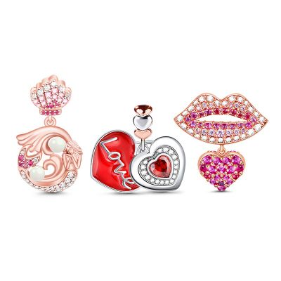 Mom's Kiss Charms Set