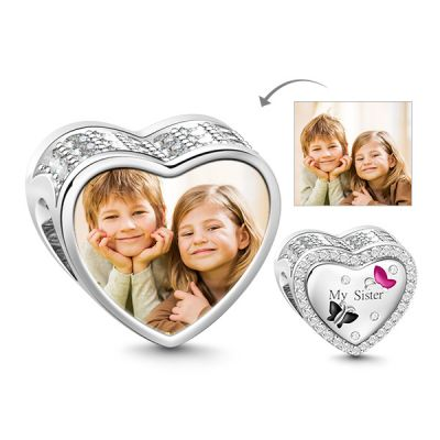 Sister Photo Charm