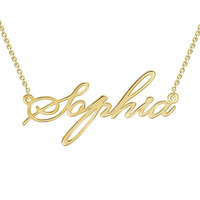 Simple Name Golden Necklace