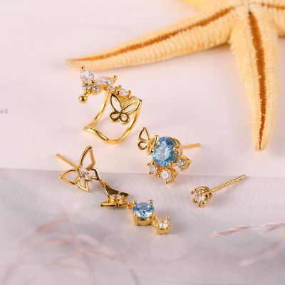 Butterfly Earing Set 4 Pcs