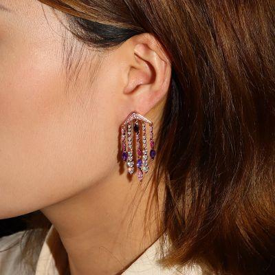 Marquise Tassels Dangle Earrings