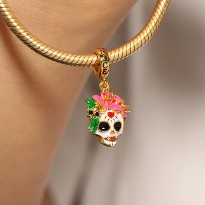 Mexican Woman Skull Pendant