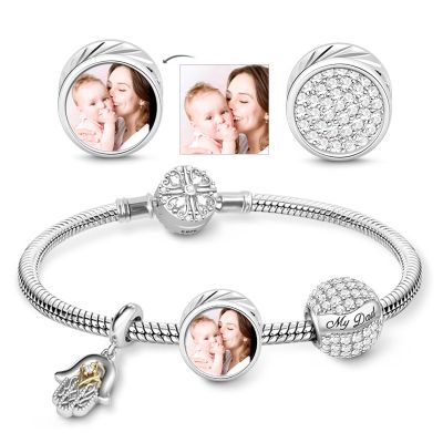 Photo Charm Bracelet Father's Day