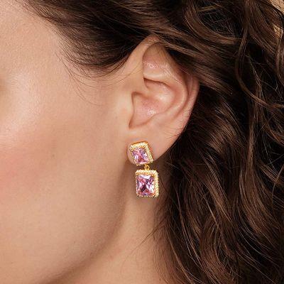 Pink Radiant Gems Dangle