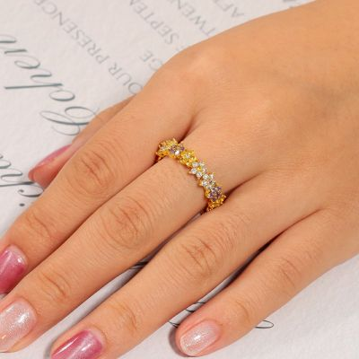 Colorful Flower Ring