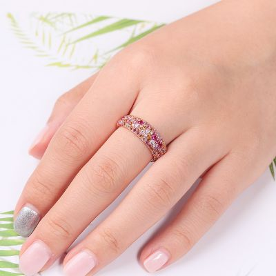 Pink Crystal Zirconia Ring