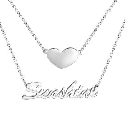 Two Layers Name Necklace
