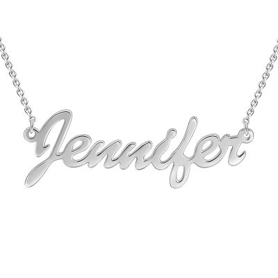 Personalized Name Silver Necklace